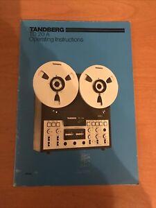 Tandberg TD 20A Operating Instructions Manual