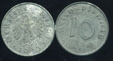 ALLEMAGNE GERMANY WW2 10 reichpfennig 1943 A   ( etat )