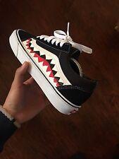 Custom Bape Shark Vans Old School Sz 5.5 Supreme Vlone Yeezy Jordan Palace