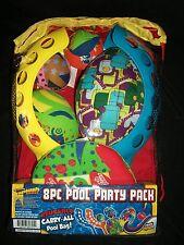 Splash Bombs 8 Pool Jai Alai Football Fling Disc Party Pack Games Toys Bag Swim
