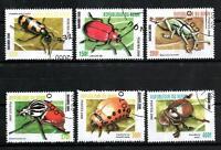 Insectos Benin (1) serie completo de 6 sellos matasellados