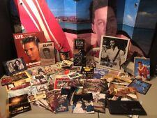 Huge Elvis Presley Memorabilia Lot Trading Cards Photographs Postcards Magnets