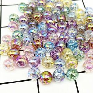 Mix color glass ball craft acrylic spacer charm décor lot 8mm spacer auction