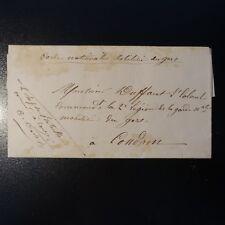 GUERRE DE 1870 LETTRE COVER GARDE NATIONALE MOBILISÉ DU GERS
