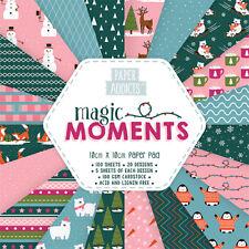 """Dovecraft ~ Paper Addicts ~ 4x4"""" Paper Pad ~ 100 x 100gsm sheets ~ Magic Moments"""