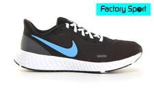 Nike Revolution 5 negro y azul Zapatillas Deportivas Running para Hombre