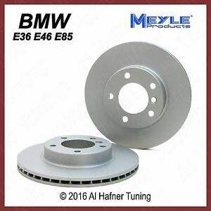 BMW E36 E46 E85 Meyle Front Rotor Set 34 11 6 855 153