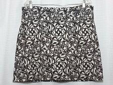 Maggie Lane Women's Skort Skirt Shorts Size L Sport Tennis Golf Black White