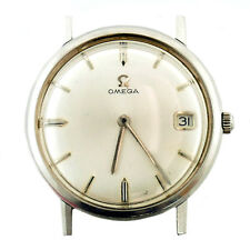 OMEGA SILVER DIAL MENS AUTOMATIC STAINLESS STEEL DATE WATCH HEAD PARTS/REPAIRS