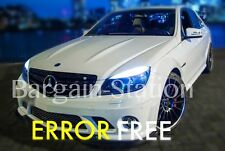 MERCEDES C-CLASS W204  XENON COOL WHITE LED SIDELIGHT x4 BULBS ERROR FREE