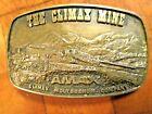 Vintage The Climax Mine Bronze Belt Buckle AMAX Molybdenum Mining Company