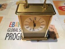 Vintage WM. WIDDOP Gold Gilt Carriage MANTEL CLOCK