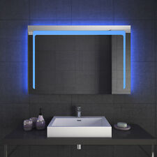 LED bathroom dressing mirror sensor fog-proof rectangular mirror for home use
