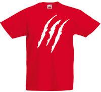 Claw Marks Snikt! Wolverine X-men Inspired Kids Printed T Shirt Boy Girls Tee