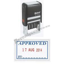 One { APPROVED } Deskmate Self-Inking Date Stamp Free Ship & Tracking