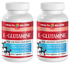 L-Glutamine 500mg, Immune Health, Muscle Mass, Protein (2 Bottles, 200 Tab.)