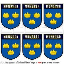 MUNSTER Province IRELAND Eire Shield Mobile Cell Phone Mini Stickers, Decals x6