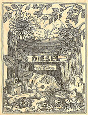 Dog Diesel And Friends Wood Mount Rubber Stamp IMPRESSION OBSESSION H1945 New