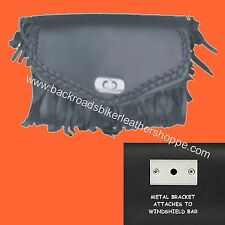WINDSHIELD TOOL BAG MOTORCYCLE FRINGE 7X5X3.5 SMALL