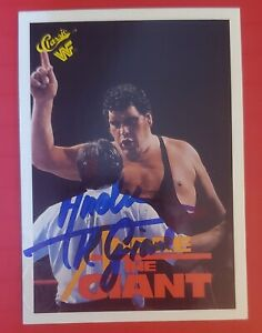 1990 classic wwf andre the giant SIGNED / Stamped Scoreboard SUPER RARE
