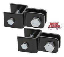 Body Armor 4X4 Horizontal Tow Bar Adapter Brackets for 87-17 Jeep Wrangler 3210