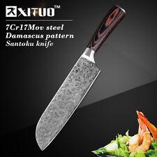 "sharp 7""inch chef knife Imitation Japanese Damascus steel Filleting Kitchen Bone"