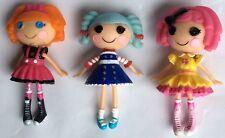 "Mini Lalaloopsy Poupées – 3 x personnages figures – Playset/gâteau Toppers - 3"""