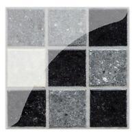 19pcs Waterproof Adhesive 3D Wall Stickers Kitchen Mosaic Tile Art Panel Decal