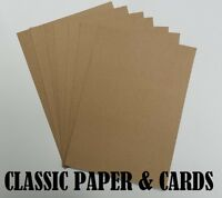 A4 QUALITY ECO 100% RECYCLED BROWN 280GSM KRAFT CARD-IDEAL FOR CRAFT/WEDDINGS