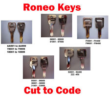 2 x Replacement Roneo Keys Cut to Code Filing Cabinets Lockers & Desks FREE P&P