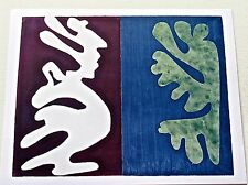 Henri Matisse Poster of Composition of Violet and Blue 1947 Painting 14x11