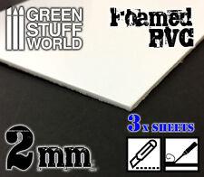PVC Espanso 2 mm - Foglio A4 - Forex - costruzione di diorami tegole miniature