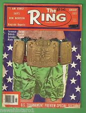 #EE.  THE RING BOXING MAGAZINE, JANUARY 1977