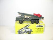 SOLIDO, Camion UNIC sahara lance fusée militaire d'origine 1968' chassis riveté,