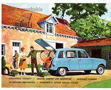 Renault 4 & 4L Estate 1962 UK Market Leaflet Sales Brochure