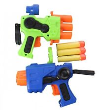2 SET SHOOTING FOAM PISTOL KIDS FUN TOYS GUN SHOOTER BULLETS DART GUN ACTION