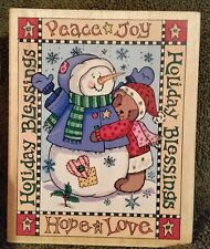 Hero Arts Large Rubber Stamp, Holiday Blessing S1789