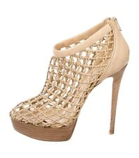 340dfe6b5a72 Very rare Christian Louboutin Coussin 140 beige ankle boots booties 39 UK 6  vgc
