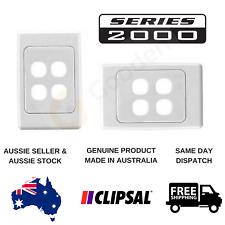 Clipsal 2000 Series 4 Gang Grid & Plate (2034VH)