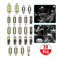 23pcs Car Interior LED Light Set White Bulb Dome Trunk Door Replacement Lamp Kit