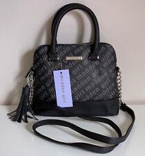 STEVE MADDEN GIRL BLACK WHITE DOME CONVERTIBLE CROSSBODY SATCHEL SLING BAG $58