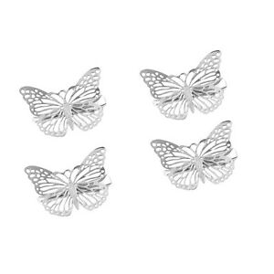 Silver Colour Butterfly Hair Clips Hairpins wedding barrette accessories