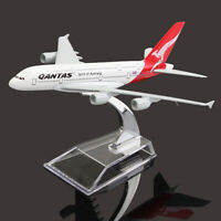 Aleación de aeroplano QANTAS AUSTRALIA aviones avión modelo A380 escala 1: 400 d