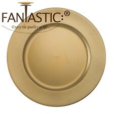 Fantastic:)™ Round 13Inch Charger Plate With Matte Finish ( Matte Plain Pattern