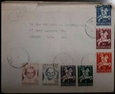 J) 1956 NETHERLAND, HORSE AND RIDER, MULTIPLE STAMPS, AIRMAIL, CIRCULATED COVER,