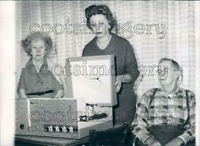 1962 People With Vintage 1960s Webcor Record Player  Press Photo
