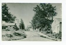 Church Street RPPC Manchester Center VT? Vintage Photo—Bennington—Fishing Stamp