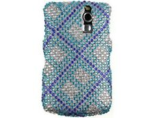 Diamond Snap-On Case Blue Plaid For BlackBerry Curve 8300 Series