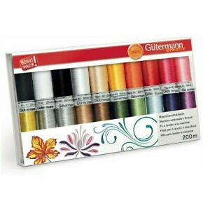 Machine Embroidery Large set Gutermann Creativ Rayon 40 Thread, 20 Reels of 200m