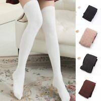 Womens Cotton Girls Knit Over Knee Thigh Stockings High Socks PantyhoseTights.UK